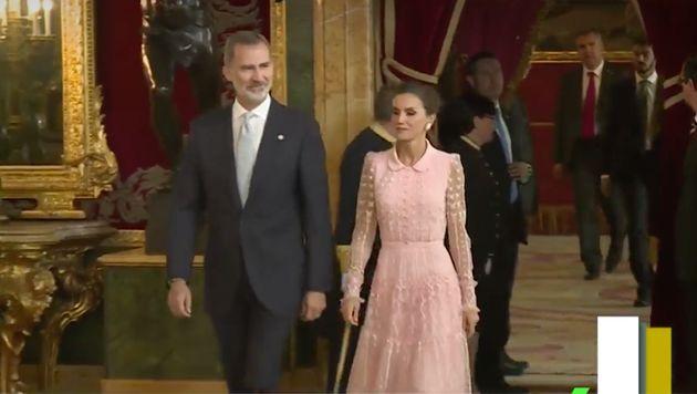 Felipe y Letizia en los actos del 12 de