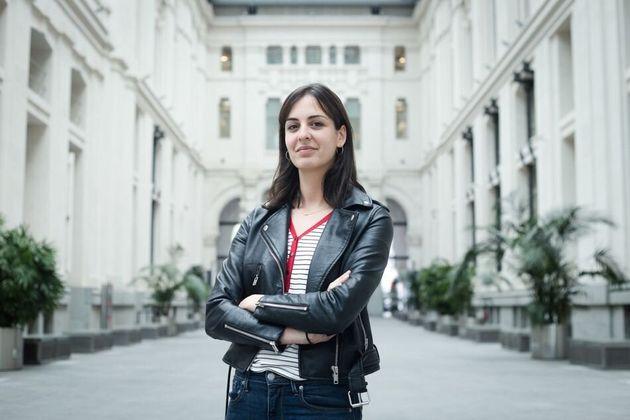 Rita Maestre, durante una entrevista con 'El HuffPost' en el Ayuntamiento de