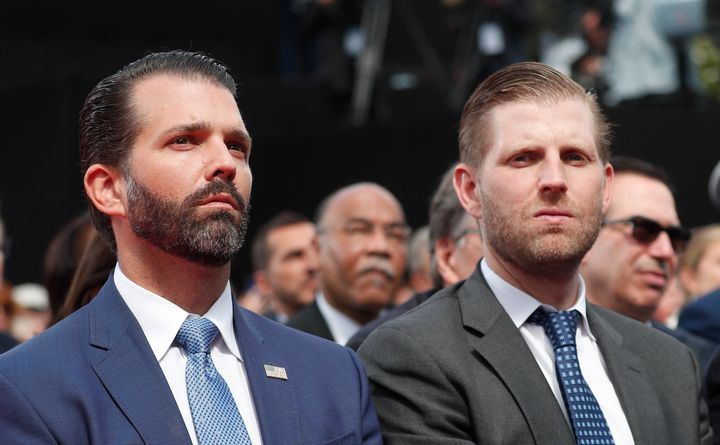 The success of Donald Trump Jr. and Eric Trump surely has nothing to do with their last name. Nope.