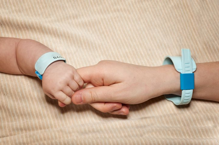 Since infant identification bracelets come in sets of threes, there are sometimes not enough to go around for groups of polyamorous parents.