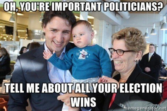 This Indifferent Baby Posing With Justin Trudeau Wins The Internet
