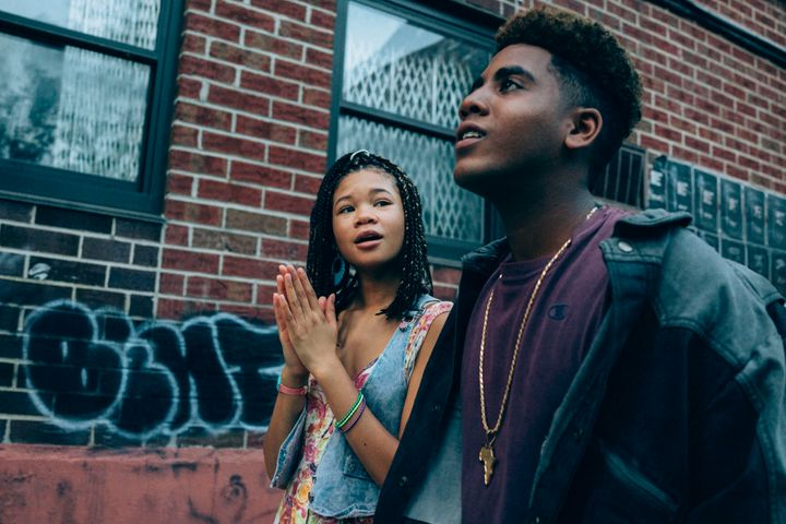 "Storm Reid and Jharrel Jerome in ""When They See Us"""