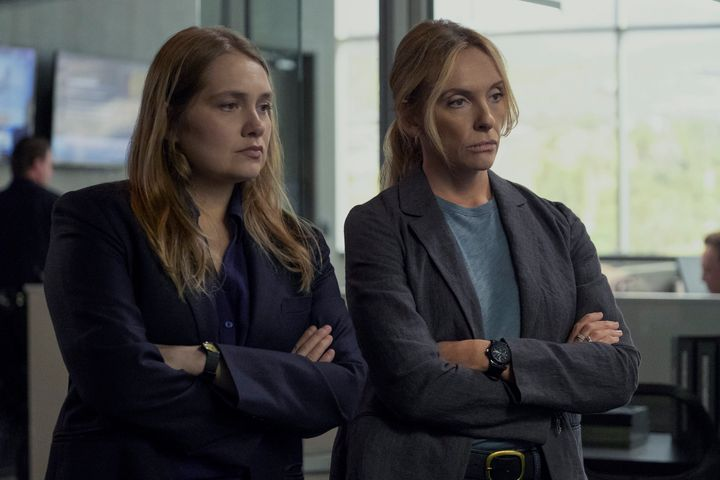 "Merritt Wever and Toni Collette in ""Unbelievable."""