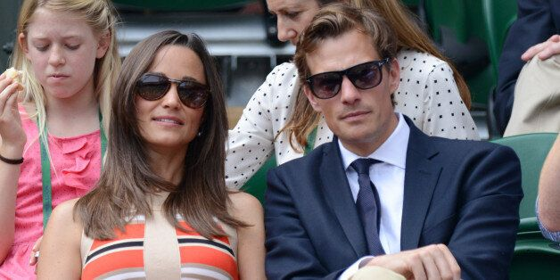 Pippa Middleton and Nico Jackson attend Day 11 of the Wimbledon Lawn Tennis Championships at the All...