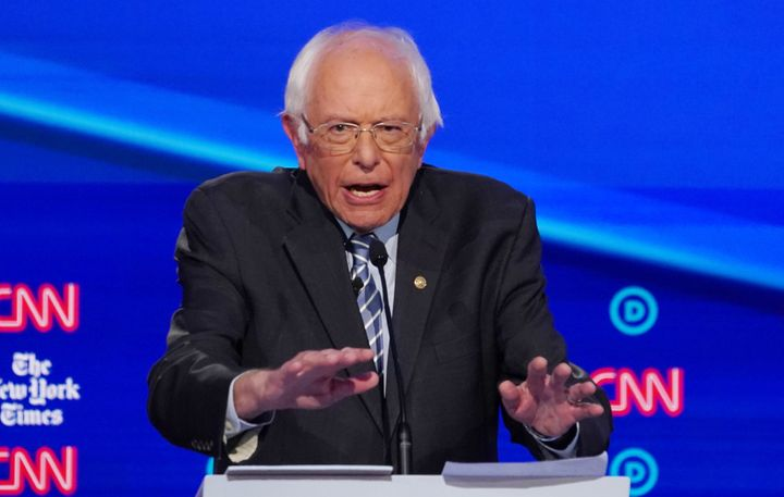 Sen. Bernie Sanders (I-Vt.) delivered a lively performance in Tuesday's Democratic presidential debate. Aides hope it reassur