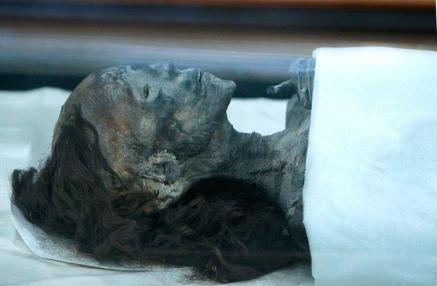 이집트의 왕 투탕카맨의 증조모의 미라. 본 기사와 직접적인 연관은