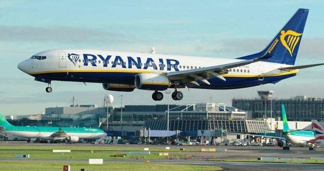 Un avión de Ryanair, en una imagen de
