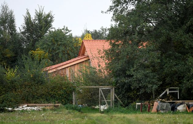 A view of a remote farm where a family spent years locked away in a cellar, according to Dutch broadcasters'...