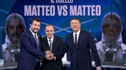 Meglio della Nazionale. Il duello Renzi/Salvini fa il pieno di