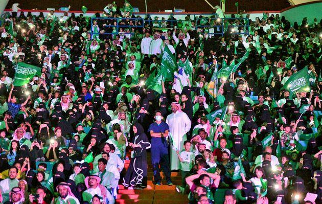 Celebración del día nacional de Arabia Saudí en el estadio deFahd, en