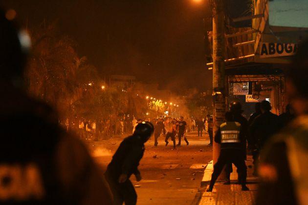 Protestas enSanta Cruz el pasado 16 de