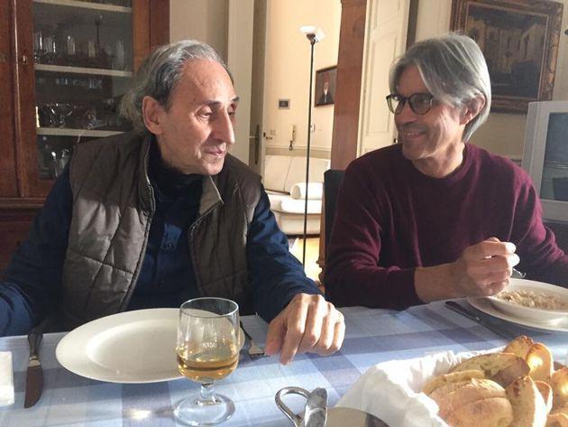 Franco Battiato con il musicista Luca
