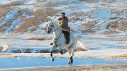 Ces photos de Kim Jong Un à cheval pourraient présager une annonce politique