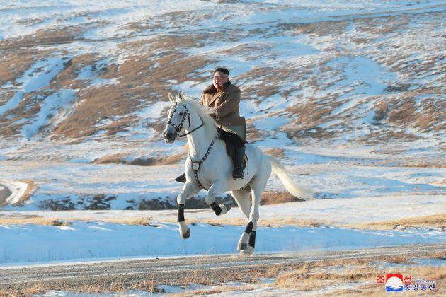 Kim Jong un sur son cheval