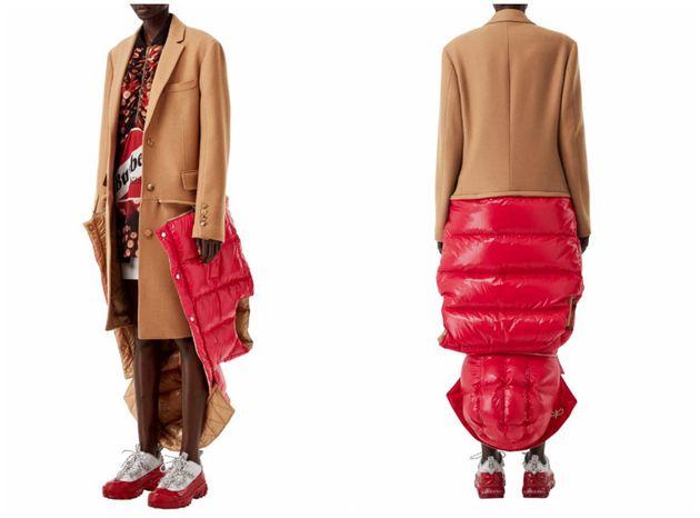 Ce vêtement Burberry mi-trench mi-doudoune a fait son petit effet