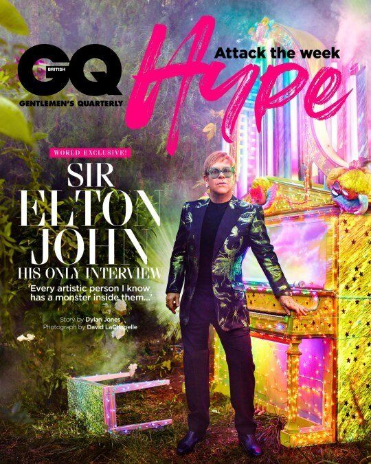 Elton John is this month's GQ cover