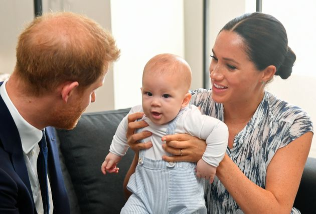The royal couple with baby Archie last