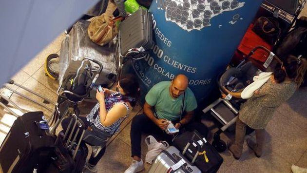 Turistas atrapados en el