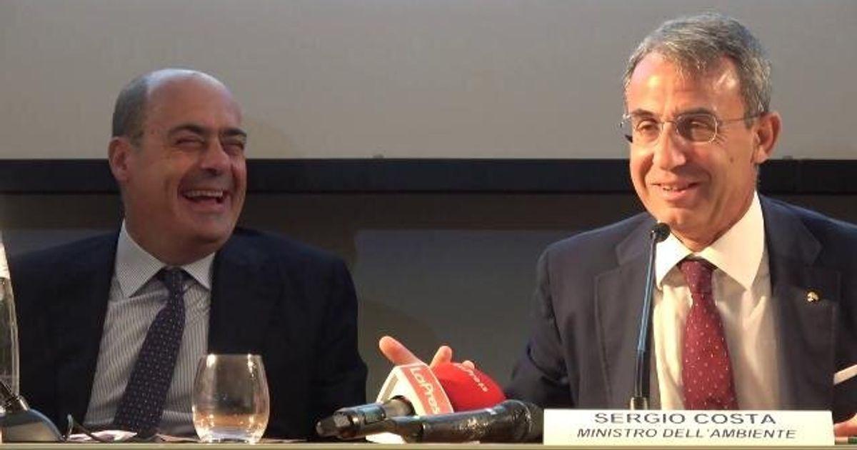 """Costa scherza con Zingaretti: """"Ho dormito due ore: in cdm non potevo addormentarmi perché altrimenti mi fregavano i soldi"""""""