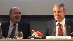 Costa scherza con Zingaretti: