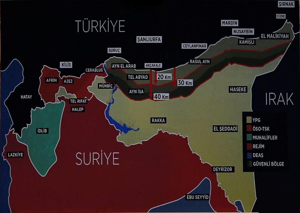 Χάρτης της τουρκικής