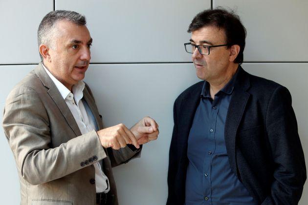 Manuel VIlas y Javier Cercas, finalista y premio Planeta