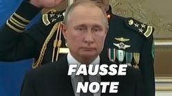 Face au massacre de l'hymne russe, Poutine n'a pas