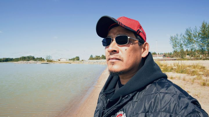 Robert Spence, a Tataskweyak Cree Nation band councillor, is shown on the reserve on Aug. 21, 2019.