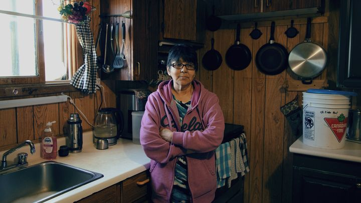 Jennifer Lett is shown in her home on Tataskweyak Cree Nation on Aug. 21, 2019.