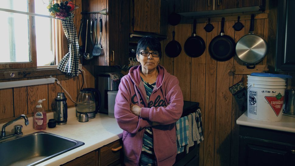 Jennifer Lett is shown in her home on Tataskweyak Cree Nation on Aug. 21,
