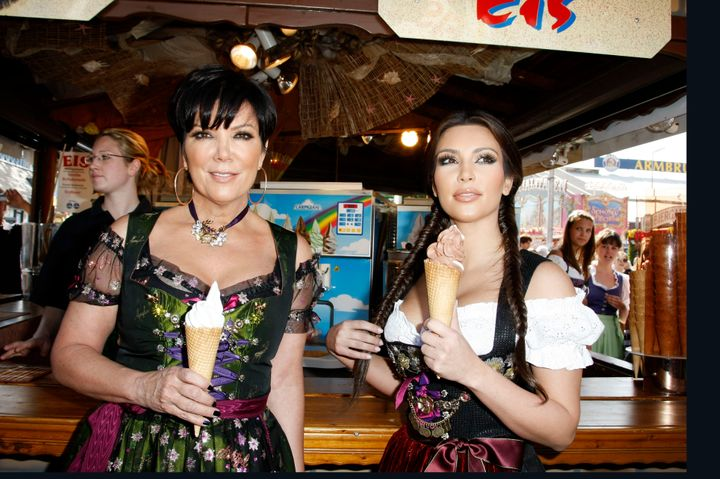 Kardashian and her mother, Kris Jenner, pick up ice cream at Oktoberfest in Munich, Germany, on Sept. 22, 2010.
