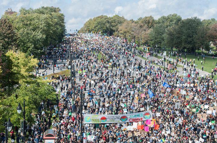 Marche pour le climat à Montréal le 27 septembre 2019