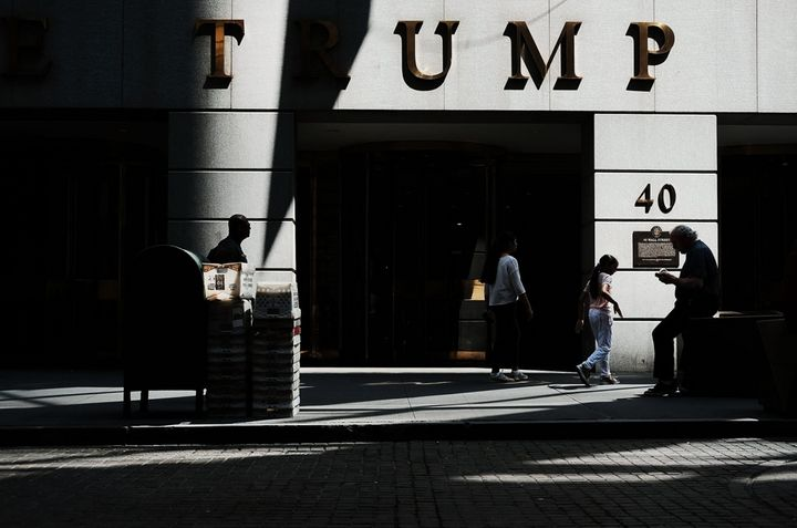 One of President Donald Trump's signature skyscrapers, at 40 Wall Street in New York. Documents reveal Trump shared conflicti