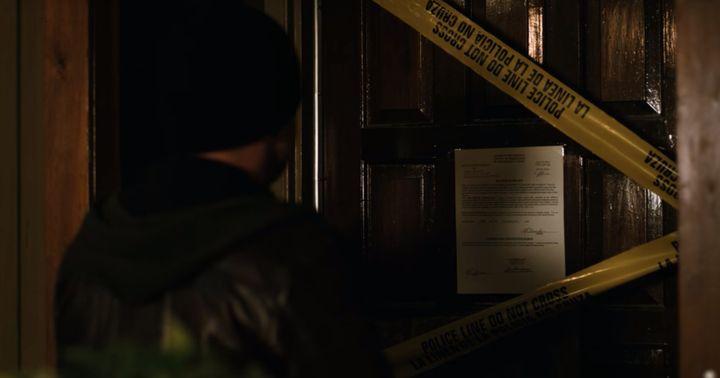 "Jesse Pinkman arrives at Todd's apartment in ""El Camino."""