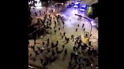 Un furgón de los Mossos d'Escuadra atropella a un manifestante en