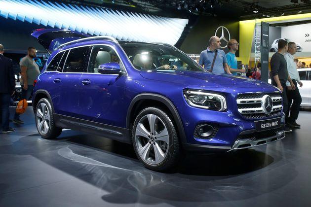 Ici, le prochain SUV de la marque allemande Mercedes-Benz, présenté au salon automobile...
