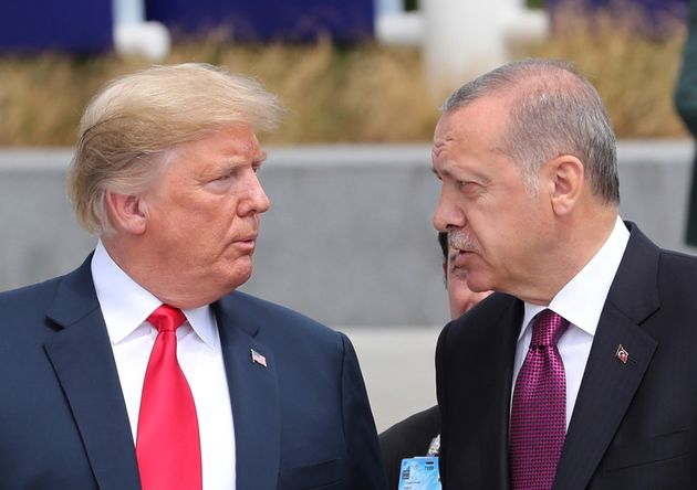 Donald Trump (ici lors du sommet de l'Otan en juillet 2018) a demandé à Recep Tayyip Erdogan...