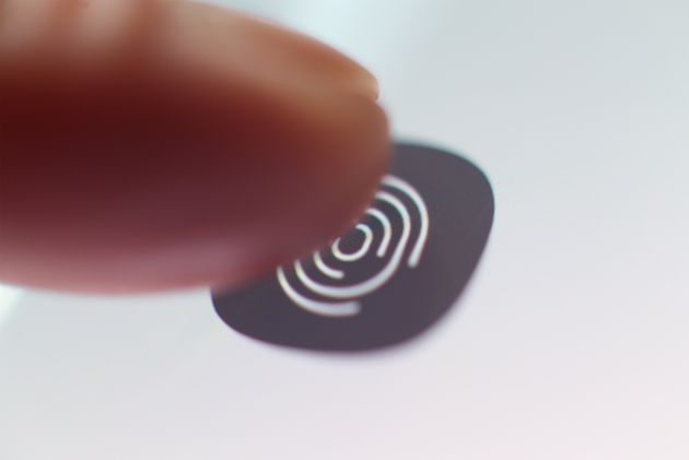 The ultrasonic fingerprint scanner embedded into the screen of a Samsung Galaxy S10 5G enabled phone,...
