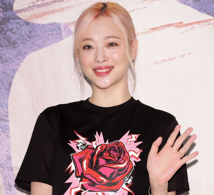 SEOUL, SOUTH KOREA - JULY 12: Former member of South Korean girl group f(x), Sulli, attends the PRADA Thunder Pop-Up Store open photocall on July 12, 2019 in Seoul, South Korea. (Photo by Han Myung-Gu/WireImage)