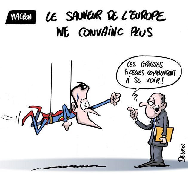 Emmanuel Macron en super-héros de l'Europe, ça ne marche