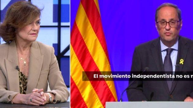 La vicepresidenta del Gobierno, Carmen