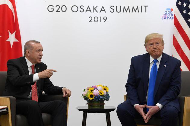 Donald Trump y Recep Tayyip Erdogan, reunidos el pasado junio durante el G-20 en Osaka,