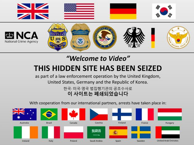 The message posted on the Welcome to Video website after it was seized by