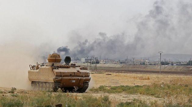 La milice kurde des Unités de protection du peuple (YPG) est attaquée par la Turquie depuis le 9 octobre,...