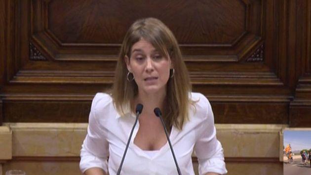 La presidenta del grupo parlamentario de Catalunya En Comú Podem, Jéssica