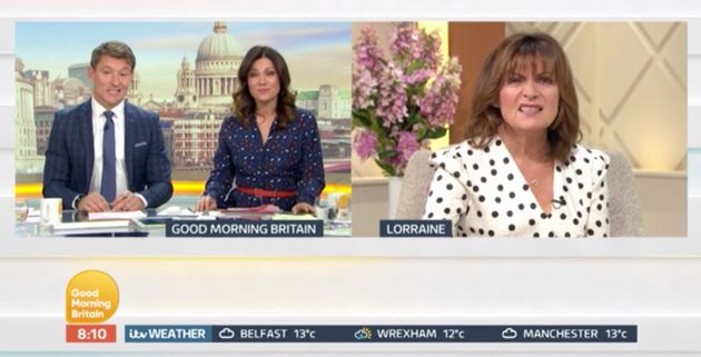 Lorraine was outraged about the protests on today's Good Morning