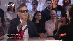 Marsupio e occhiali sportivi: Beppe Sala in tv in versione