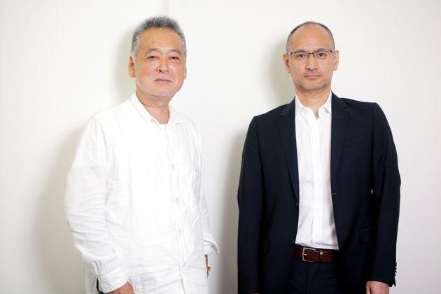 左から、瀬々敬久(ぜぜ・たかひさ)監督と原作者の吉田修一さん