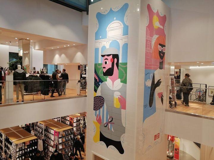 Interior de la tienda de Uniqlo en Madrid.