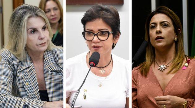 Parlamentares do PSL: deputadasSoraya Manato e Alê Silva e senadora Soraya Thronicke, presidente...
